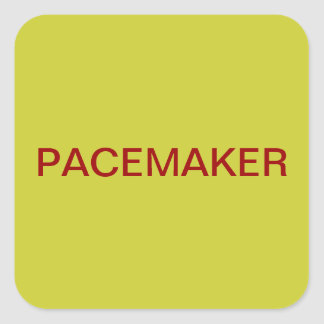 Pacemaker Medical Chart Labels Square Sticker
