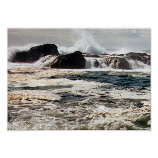 Pacfic Surf, Tofino Poster