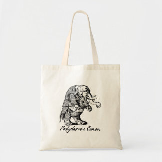 Pachyderm's Canon Violin playing Elephant Fiddle Budget Tote Bag