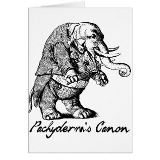 Pachyderm's Canon Violin playing Elephant Fiddle Card