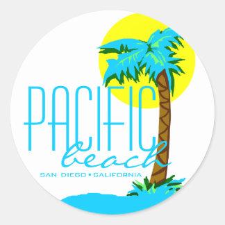 Pacific Beach- San Diego Classic Round Sticker