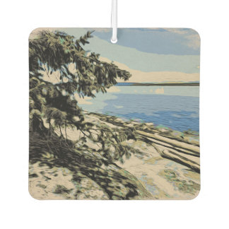 Pacific Beach woodblock style Air Freshener