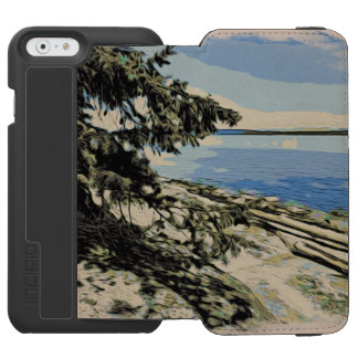 Pacific Beach woodblock style Incipio Watson™ iPhone 6 Wallet Case