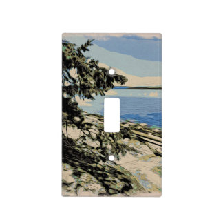 Pacific Beach woodblock style Light Switch Cover