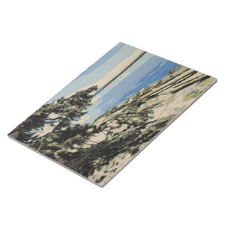 Pacific Beach woodblock style Notepad