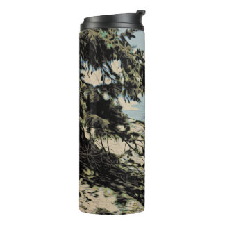 Pacific Beach woodblock style Thermal Tumbler