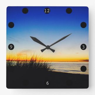 Pacific Coast Beach Square Wall Clock