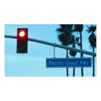 Pacific Coast Highway 1 Sign California Beach Sky Business Card