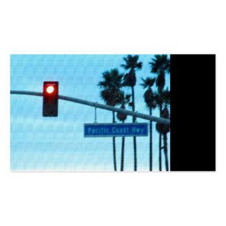 Pacific Coast Highway 1 Sign California Beach Sky Business Card