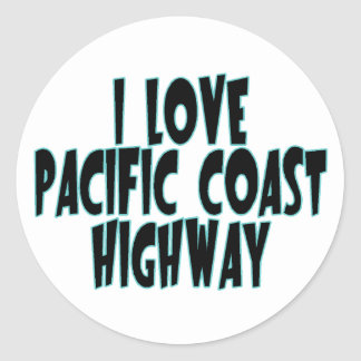 Pacific Coast Highway Classic Round Sticker