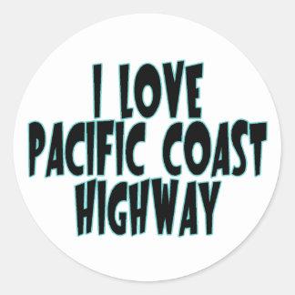 Pacific Coast Highway Classic Round Sticker
