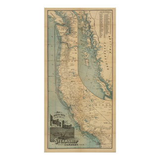 Pacific Coast Steamship Company Poster