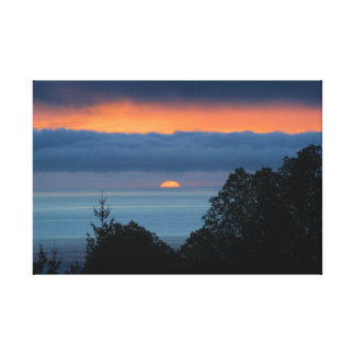 Pacific Coast Sunset Canvas Print