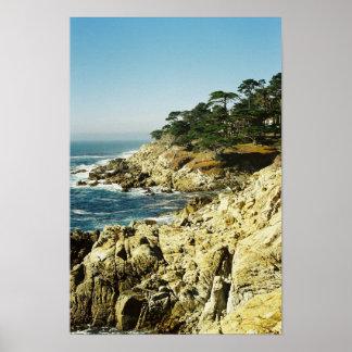 Pacific Coastline Poster