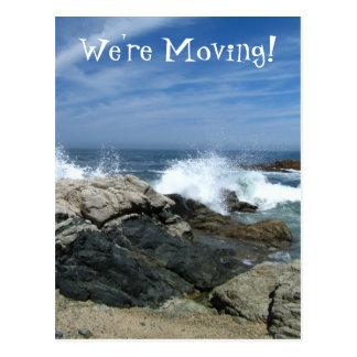 Pacific Crashing In; Change of Address Postcard