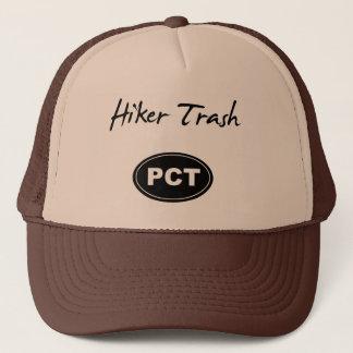 Pacific Crest Trail Hiker Trash Brown Trucker Hat