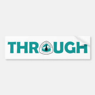 Pacific Crest Trail Through Hike Bumper Sticker