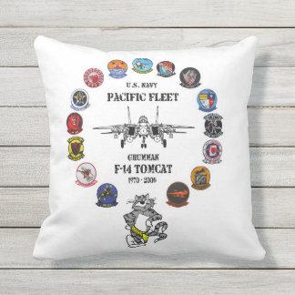 Pacific Fleet - F-14 Tomcat - VF-2 Bounty Hunters Outdoor Pillow