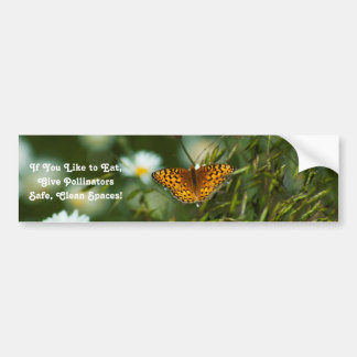 Pacific Fritillary Butterfly Bumper Sticker