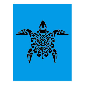 Pacific Island design tattoo Turtle Postcard