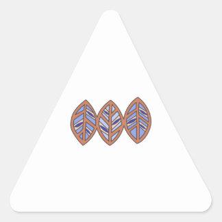 PACIFIC ISLAND LEAF BORDER TRIANGLE STICKER