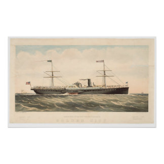 Pacific Mail Steam Ship Co's Golden City (0640A) Poster