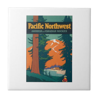 Pacific Northwest American and Canadian Rockies Ceramic Tiles