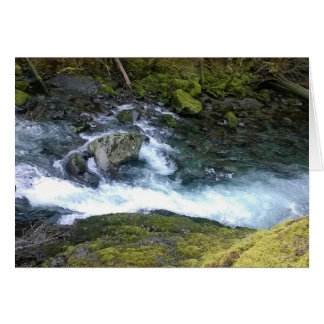 Pacific Northwest Rushing Water Card