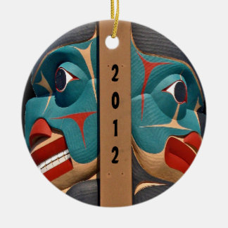 Pacific Northwest Totem Art  Design Ornament