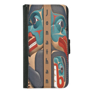 Pacific Northwest Totem Design Wallet Case