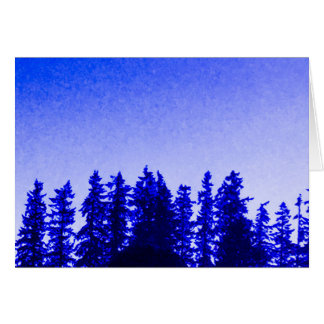 Pacific Northwest Trees in Purple Blank Note Card