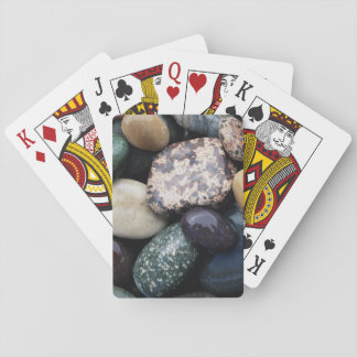 Pacific Northwest USA, Colorful river rocks Playing Cards
