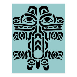 Pacific NW Indian Design Post Card
