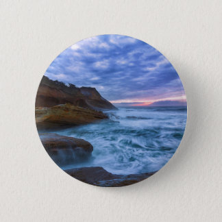 Pacific Ocean at Cape Kiwanda in Oregon USA 2 Inch Round Button