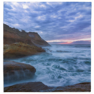 Pacific Ocean at Cape Kiwanda in Oregon USA Napkin