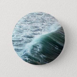 Pacific Ocean Blue 2 Inch Round Button