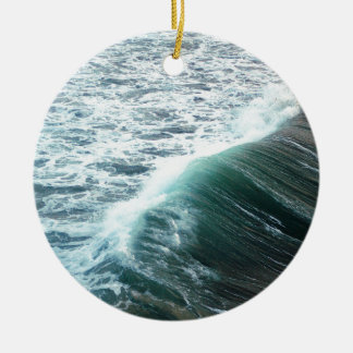 Pacific Ocean Blue Ceramic Ornament