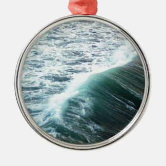 Pacific Ocean Blue Metal Ornament