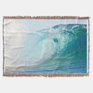 Pacific ocean blue wave breaking blanket