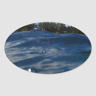 Pacific Ocean Maui Oval Sticker