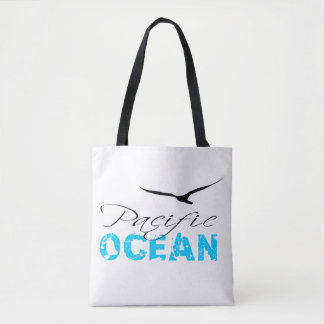 Pacific Ocean White Customizable Tote Bag