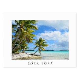 Pacific palm beach postcard in Bora Bora