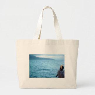 pacific pelican large tote bag