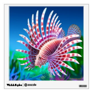 Pacific Reef Lionfish Wall Decal