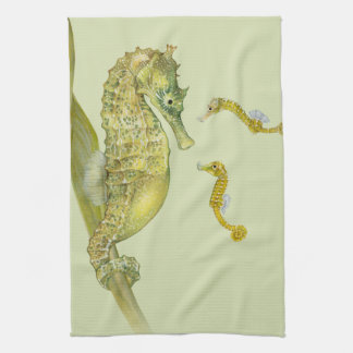 Pacific Seahorse Family Kitchen Towel