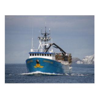 Pacific Sun, Crab Boat in Dutch Harbor, Alaska Postcard