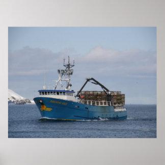 Pacific Sun, Crab Boat in Dutch Harbor, Alaska Poster