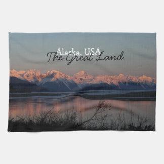 Pacific Sunset; Alaska Souvenir Kitchen Towel