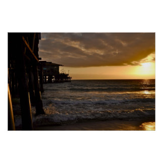 Pacific Sunset in Santa Monica Poster