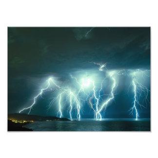 Pacifica lightning storm photo print